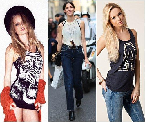 Модные женские майки 2013 года, фото