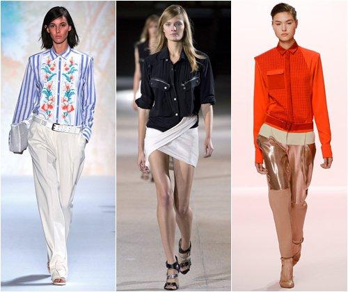 Самые модные женские рубашки 2013, цвета, фото