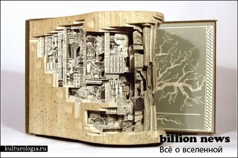 Резьба по книгам от Брайана Деттмера (Brian Dettmer) (9 фото)