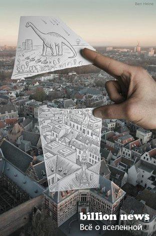 «Карандаш против камеры» от Бена Хайне (Ben Heine) (11 фото)