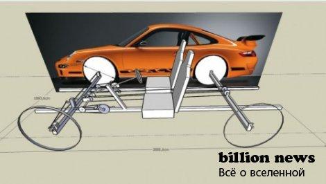Велосипед в виде суперкара Porsche (45 фото и и видео)