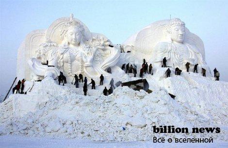 В Харбине прошёл фестиваль снежных и ледяных скульптур  (27 фото)