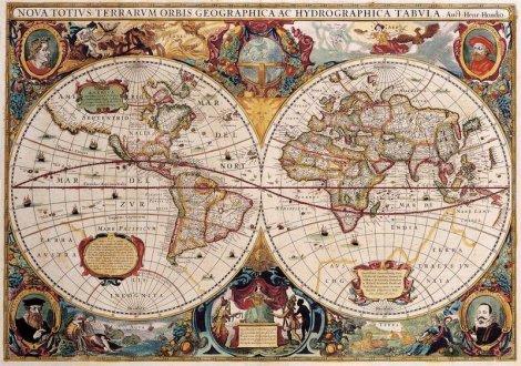 Самые интересные факты о старинных картах.