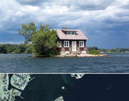 Самые маленькие обитаемые острова планеты (5 фото)