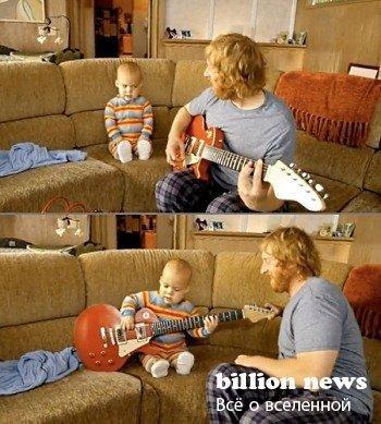 Ребёнок - гитарист (видео)