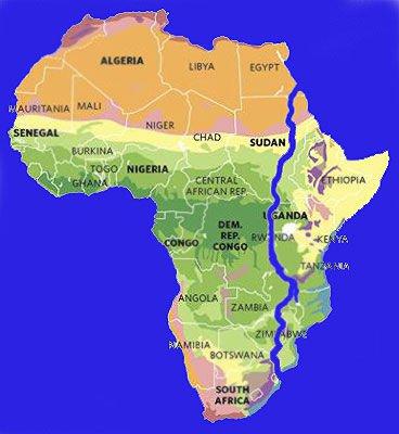 Африка раскалывается на 2 части