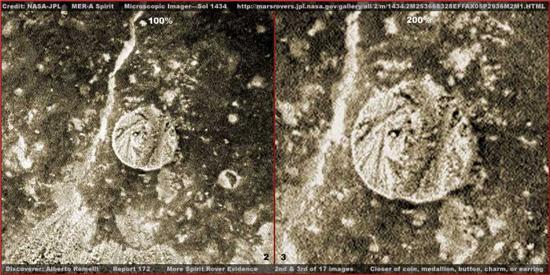 Есть ли жизнь на Марсе: на красной планете найдена монета (2 фото)