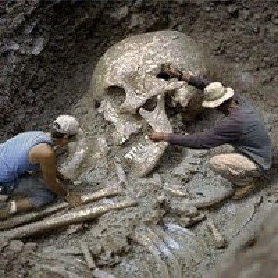 Землю заселяли люди-гиганты (10 фото)