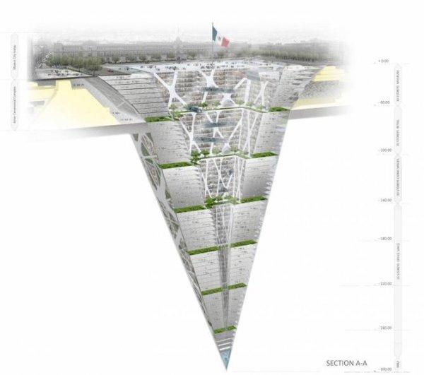 300-метровый небоскрёб наоборот (13 фото)
