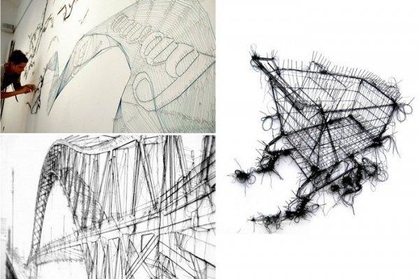 Картины из ниток и булавок от Дебби Смит (Debbie Smyth) (6 фото)