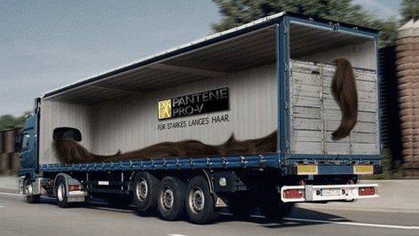 Реклама на грузовиках (28 фото)