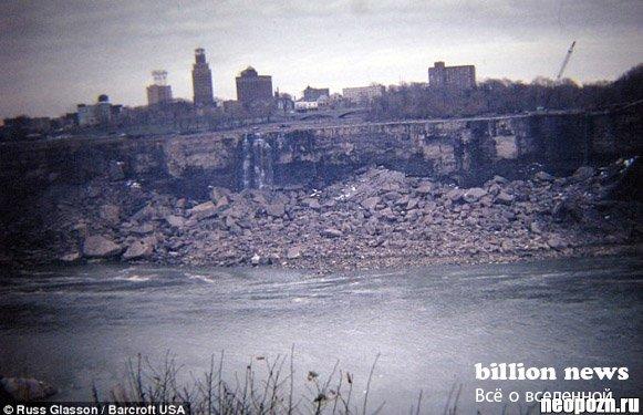 День, когда остановился Ниагарский водопад (7 фото)