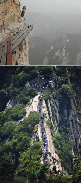 Самые опасные горные тропы на планете (6 фото)
