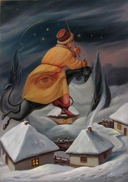 Оптические иллюзии Олега Шуплюка (17 фото)