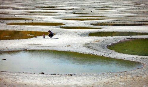 Пятнистое озеро Клилук (5 фото)