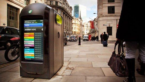 На улицах Лондона появились урны с Wi-Fi (3 фото)