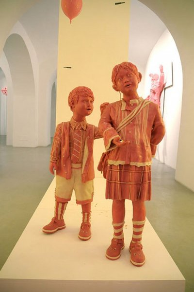 Мауризио Савини: скульптуры из жвачки (17 фото + видео)