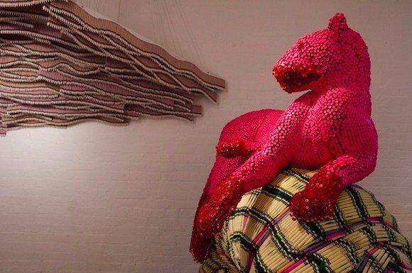 Скульптуры из детских мелков от Herb Williams. (24 фото)