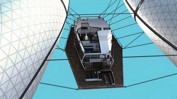 Летающий дом Wolke 7 (14 фото)