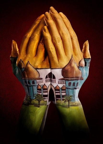 Невероятные ручные картины Рэя Мэсси (8 фото)