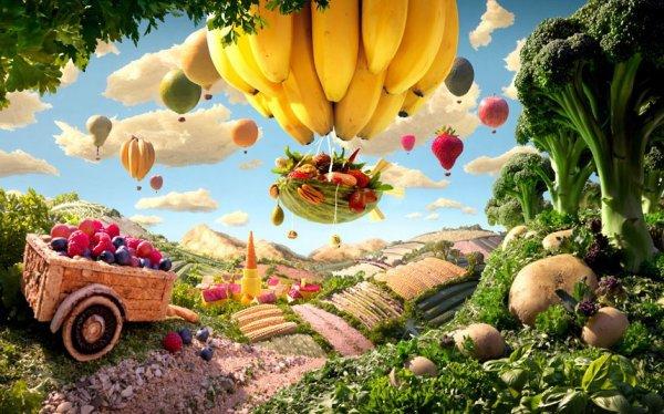 Картины из еды от Карла Уорнера (14 фото)