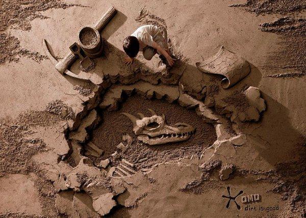 Скульптуры из песка от чемпиона мира по песочному искусству (14 фото)