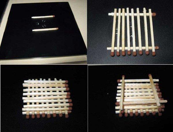 Домик из спичек (9 фото)