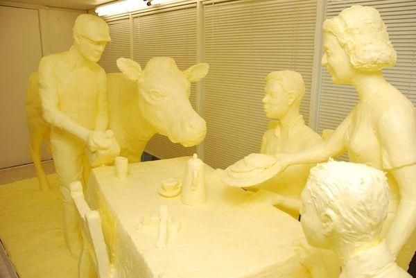 Скульптуры из масла от Jim Victor и Marie Pelto (10 фото)