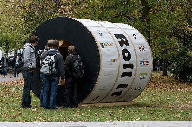 Экспериментальный дом Roll It (6 фото)