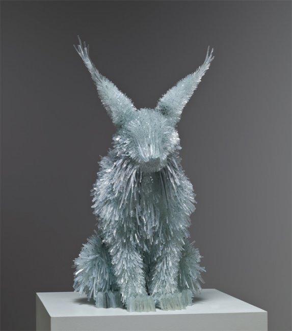 Скульптуры из стекла от Marta Klonowska (14 фото)