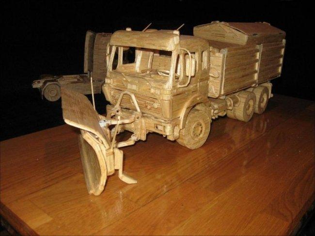 Модели машин, полностью сделанные из спичек (19 фото)