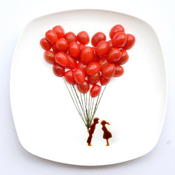 Картины из еды от художницы Hong Yi (8 фото)
