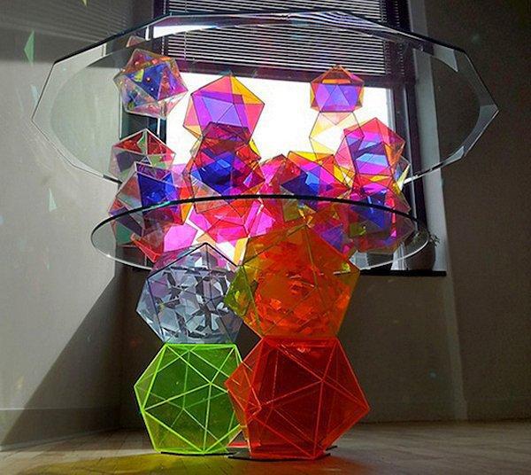 Cверкающий стол Sparkle Geometric Table (6 фото)