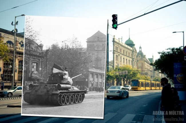 Будапешт: прошлое и настоящее в одной фотографии (22 фото)