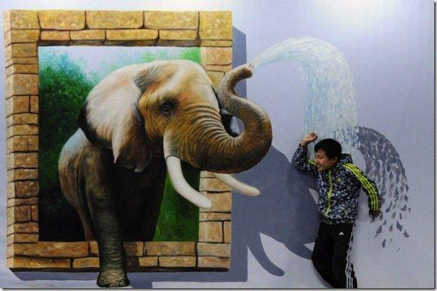 Очередная выставка 3D-рисунков в Китае (6 фото)