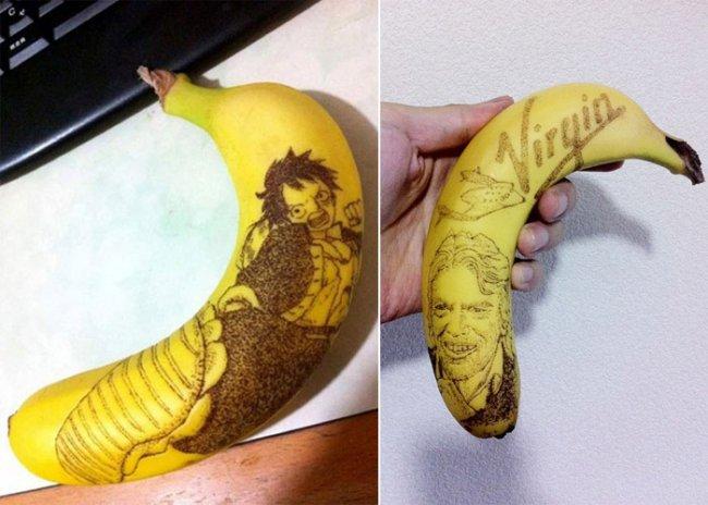 Daisuke Skagami: рисунки на банановой кожуре (6 фото)