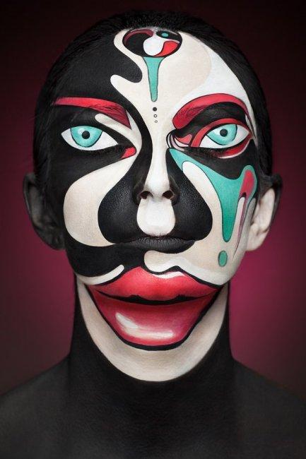 Удивительные рисунки на лице от Александра Хохлова (7 фото)