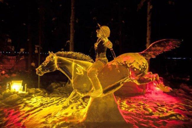 Чемпионат мира по по ледяным скульптурам (15 фото)