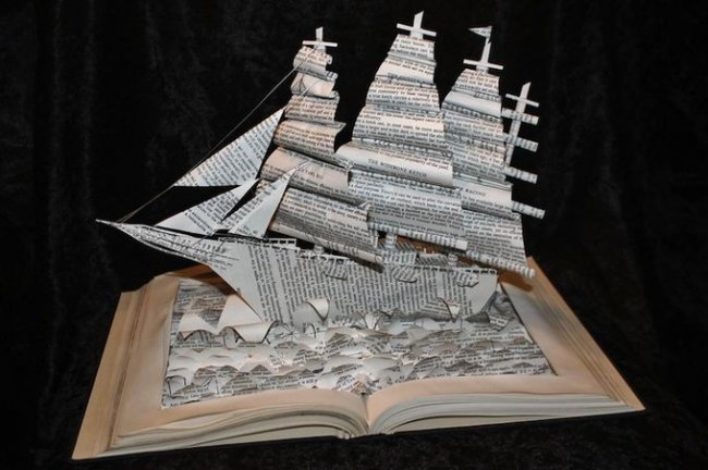Скульптуры из книг от Джоди Харви-Брауна (14 фото)