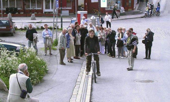 Эскалатор для велосипедистов в Норвегии (13 фото)