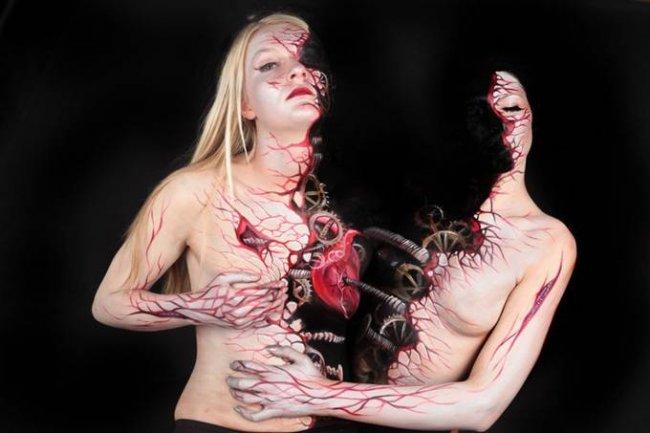 Боди-арт от Гезине Марведель (Gesine Marwedel) (16 фото)