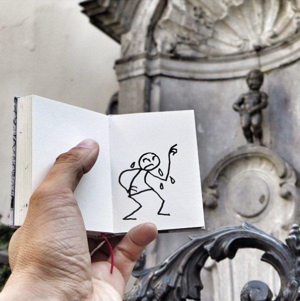Нарисованный человечек от Ясина Каси (23 фото)