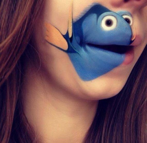Мультяшные губы от Лауры Дженкинсое (21 фото)