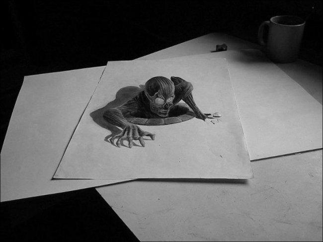 3D-рисунки на бумаге (29 фото)