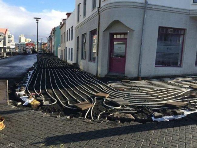 В Рейкьявике готовят тротуар с подогревом (фото дня - 01.10.2014)