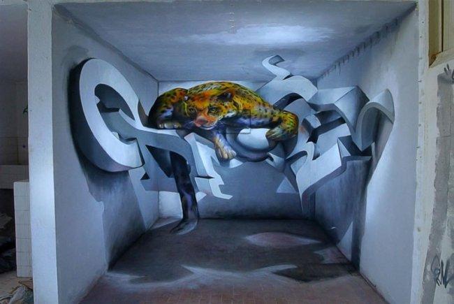 Анаморфотное искусство от Odeith (15 фото)