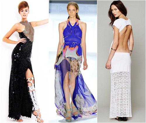 Открытые платья на выпускной 2013, красивые фасоны с открытой спиной, фото