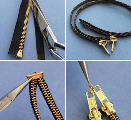 5 красивых браслетов из застежек-молний