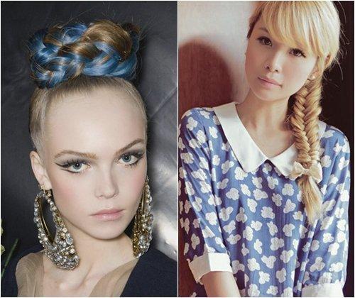 Модные косы весна-лето 2013, модные плетения косичек с фото
