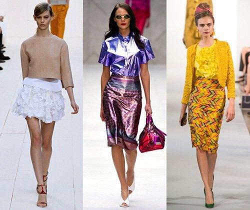 Модные юбки сезона весна-лето 2013, красивые фасоны, фото